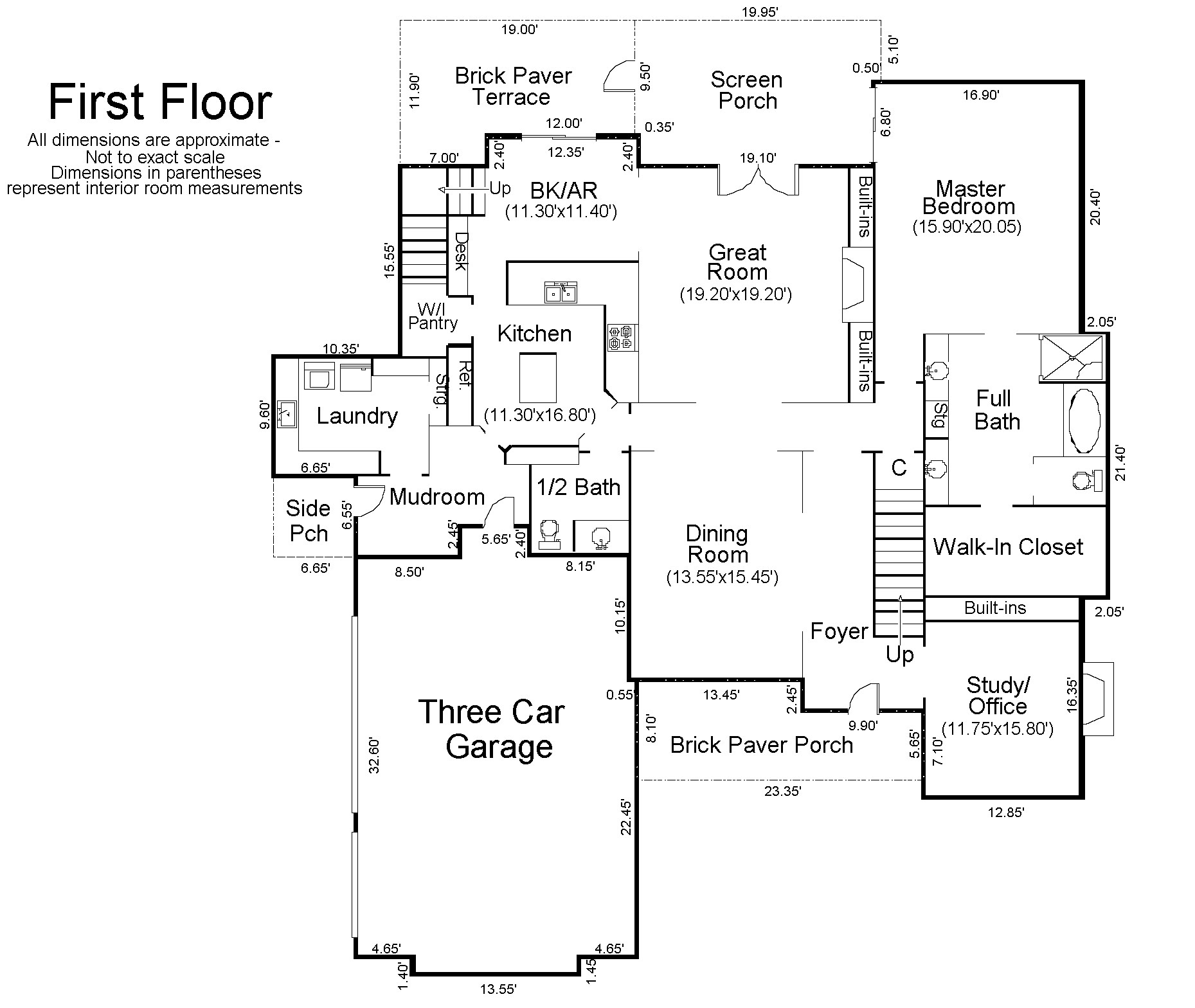 Floor plan of a house with measurements for House plans with measurements